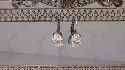 Mariana Clear Pear Shaped Earrings-On A Clear Day Collection