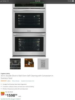 Frigidaire Gallery 30 double oven