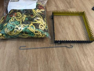 Looms and loops and hook to make lots of potholders