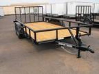 """2019 Stagecoach 83""""x16' PipeTop Utility Trailer"""