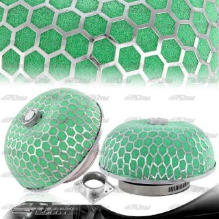 Find Green Micro Foam 3 Inch Outlet Mushroom Cold Air Intake / Turbo Filter + Adapter motorcycle in Rowland Heights, California, United States