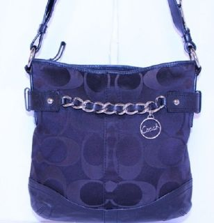 COACH SIGNATURE HANDBAG- No.D1262-F19730
