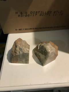 Marble or rock Bookends. Dek/Syc delivery