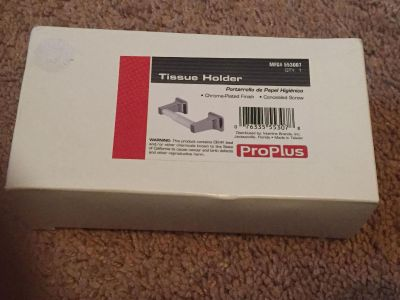 Proplus tissue holder - chrome plated /concealed screw