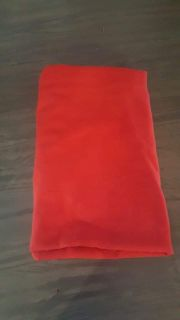 6 x 5 red fabric table cloth