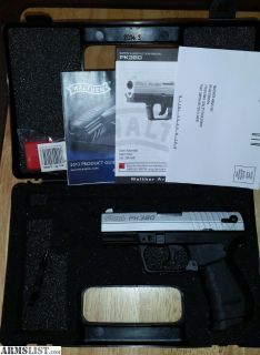 For Sale: Walther Nickel PK380 .380 Auto in New, Unfired Condition, PK-380