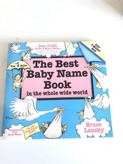 Baby book name