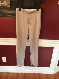 Baseball pants medium- they say medium (my son wore them when he was 13)