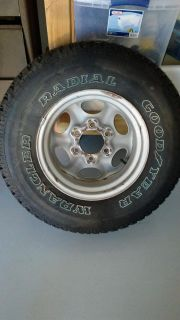 New Goodyear Wrangler tire size P235 / 75R15 never used was a spare for 1997 Nissan Pathfinder $50