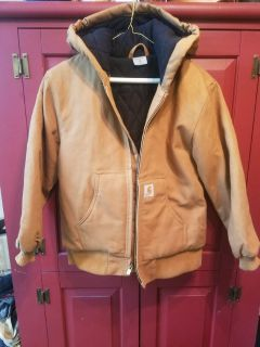 Carhartt Quilted Lining Hooded Coat Youth M (10-12)