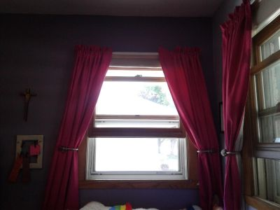 Hot pink block out curtains