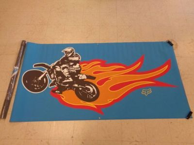 Purchase Fox Racing James Stewart 4x8 Foot Tyvek Blue Poster Banner Off Road Motor Cross motorcycle in Chaplin, Connecticut, United States, for US $59.99