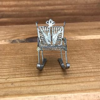 Miniature antique rocking chair (metal)