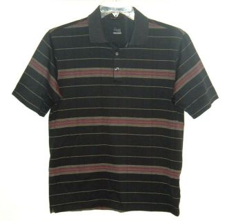 Nike Fit Dry Tiger Woods Collection Striped Golf Polo Shirt Mens Small