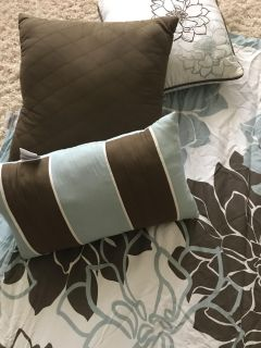 King size duvet and throw pillows from Target