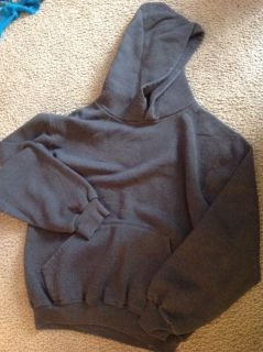 Grey hooded pocket sweatshirt