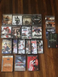 Ps2 and PS3 game lot