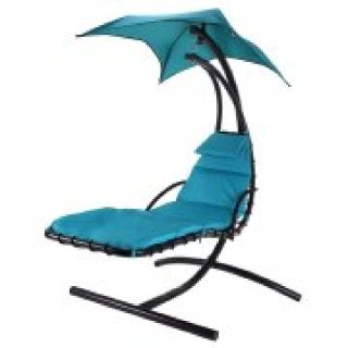 Outdoor, hanging chaise lounge chair