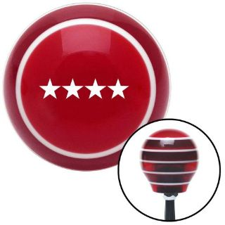 Sell White General Red Stripe Shift Knob with M16 x 1.5 Insert hot rod street rod motorcycle in Portland, Oregon, United States, for US $54.95
