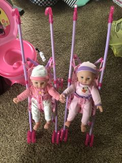 Dolls and strollers