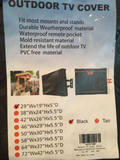 Outdoor Cover for 32 TV - New
