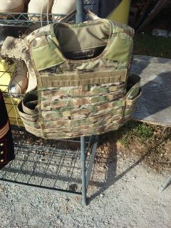 Military MULTI-CAM PLATE CARRIER WITH PLATES