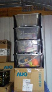 Good condition stacking bin drawers( items in drawers not included) $10