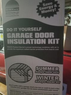 Garage door insulation kit 2boxes (this is enough to do a double garage door)