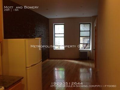 Nolita - 2 Bedroom , Exposed brick and decent sized rooms, NOFEE