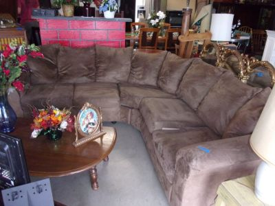 Two Piece Chocolate Micro-Fiber Sectional