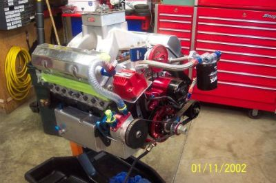 Buy 372 chevy sb wedge head drag race engine 900 hp motorcycle in Barberton, Ohio, United States, for US $13,500.00