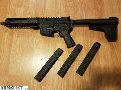 For Sale/Trade: AR Spikes honey badger pistol with 9mm adaptor and 3 mags