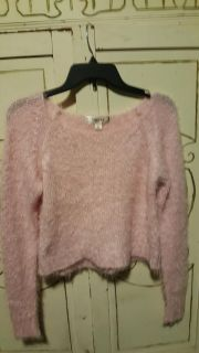 Fuzzy, cropped sweater