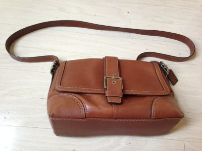 Coach Leather Bag with Strap