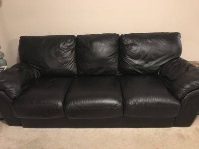 Leather Pull-Out Couch