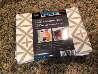 NEW 3 pack absorbent liners for refrigerator