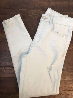 Size 5 ankle sea foam high waisted jeans