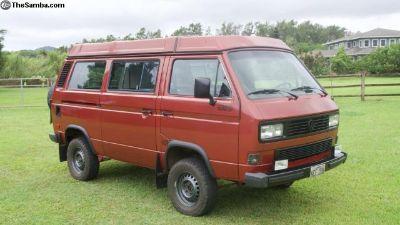 1987 Vanagon 4wd Syncro Westfalia camper