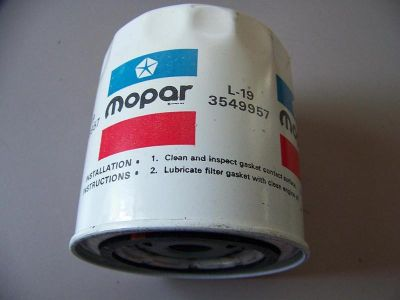 Buy Nos L-19 3549957 Mopar Oil Filter 1972-1973-1974,B&E, A-body 340-360-440 motorcycle in Joliet, Illinois, US, for US $55.00