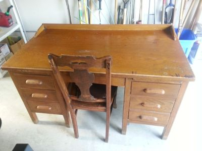 Antique School Teachers Desk