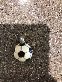 Soccer ball necklace charm