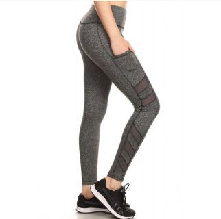 Solid GRAY Full Length Athletic Sports Legging (Multiple Sizes Available)