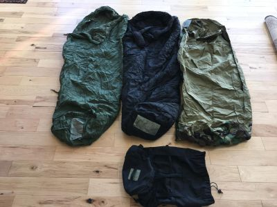 US Military 4 Piece Modular Sleeping Bag System w/GORTEX Bivy - Excellent Cond