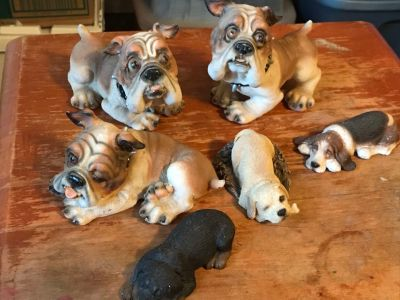 6 Dog Figurines