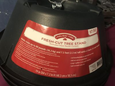 New never used fresh tree stand