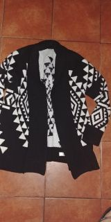 Express black and white sweater.. Heavy sweater. Very pretty