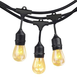 Commercial Grade 48 Feet with 24 Edison Vintage Bulbs Outdoor String Lights
