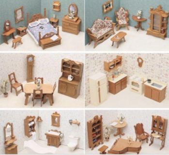 Inexpensive wooden dollhouse furniture
