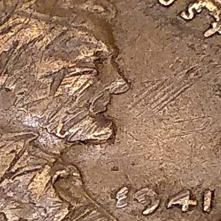 1941 penny One oe a kind Stamped E941 instead of 1941