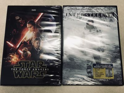 DVDs, new in package